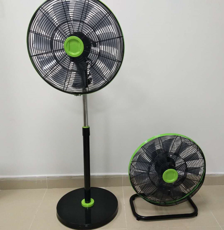 18 inch remote control stand fan and wall fan with 18pcs blades