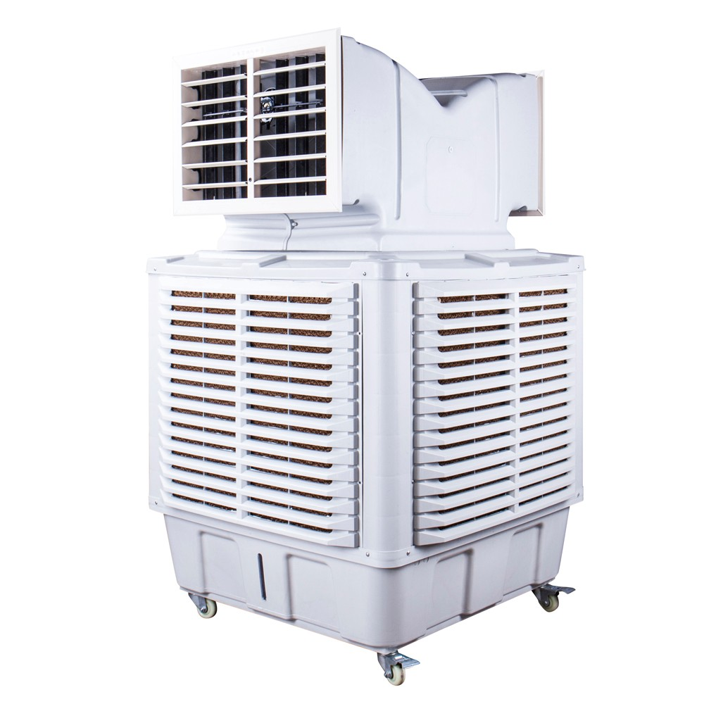moving evaporative air cooler